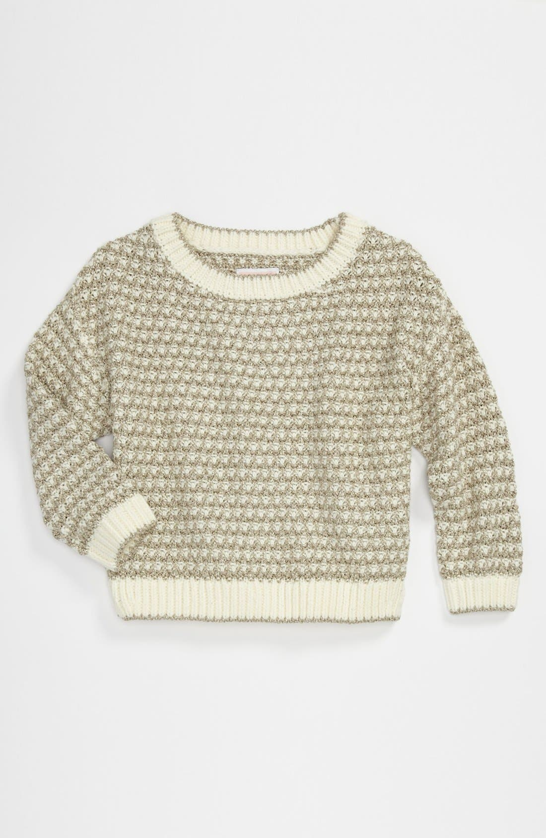Alternate Image 1 Selected - Juicy Couture Metallic Sweater (Big Girls)