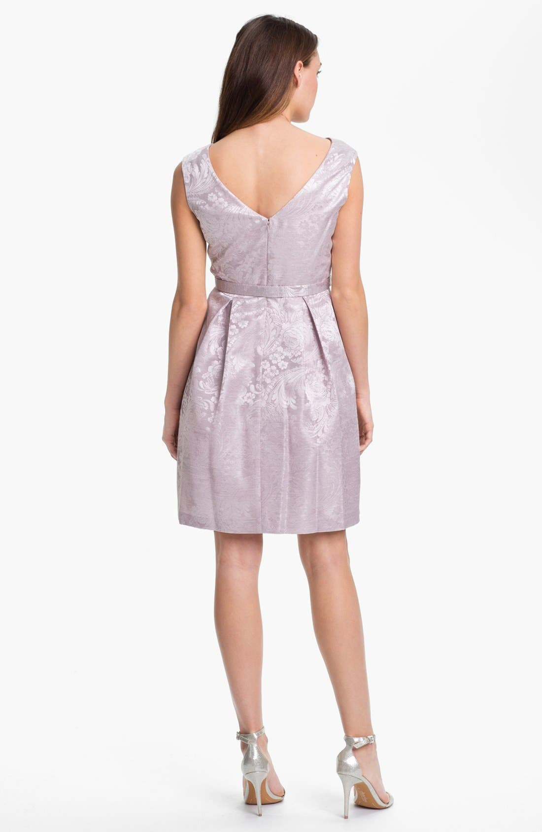 Alternate Image 2  - Eliza J Textured Print Fit & Flare Dress