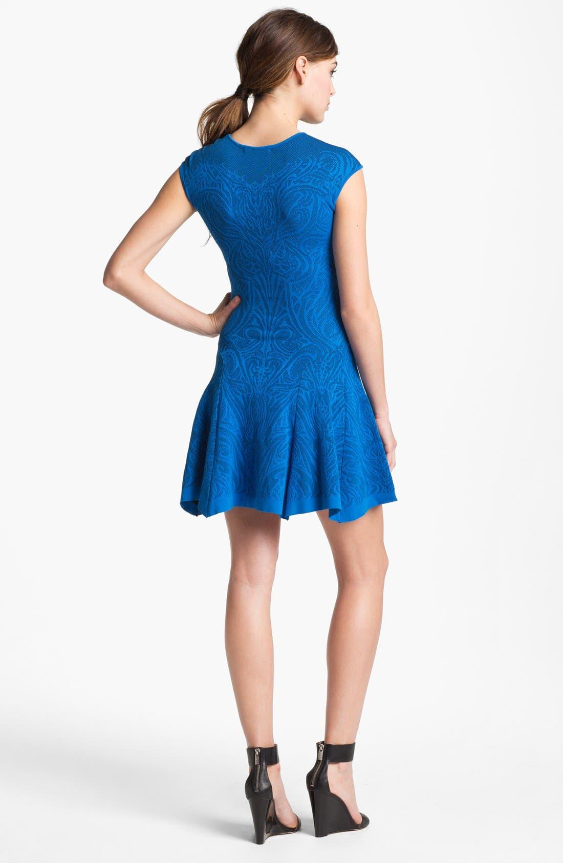 Alternate Image 2  - RVN Lace Jacquard Dress
