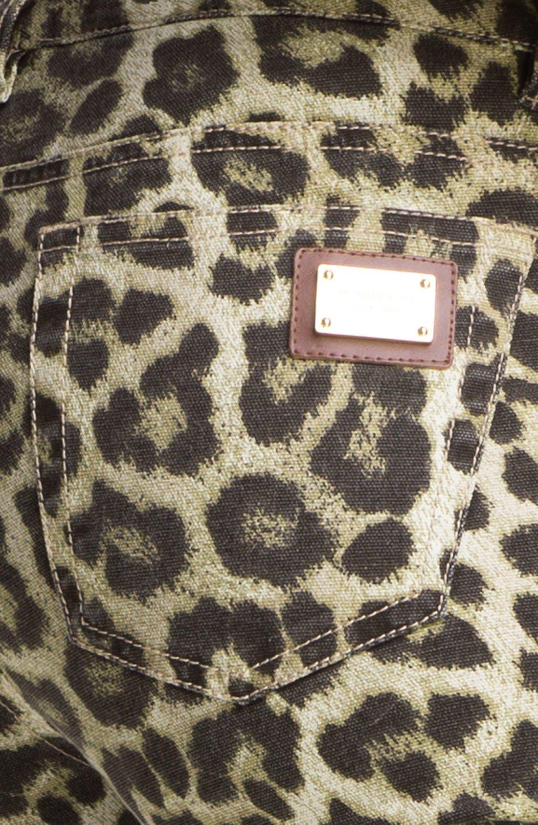 Alternate Image 3  - MICHAEL Michael Kors 'Savannah' Leopard Print Skinny Jeans (Petite)