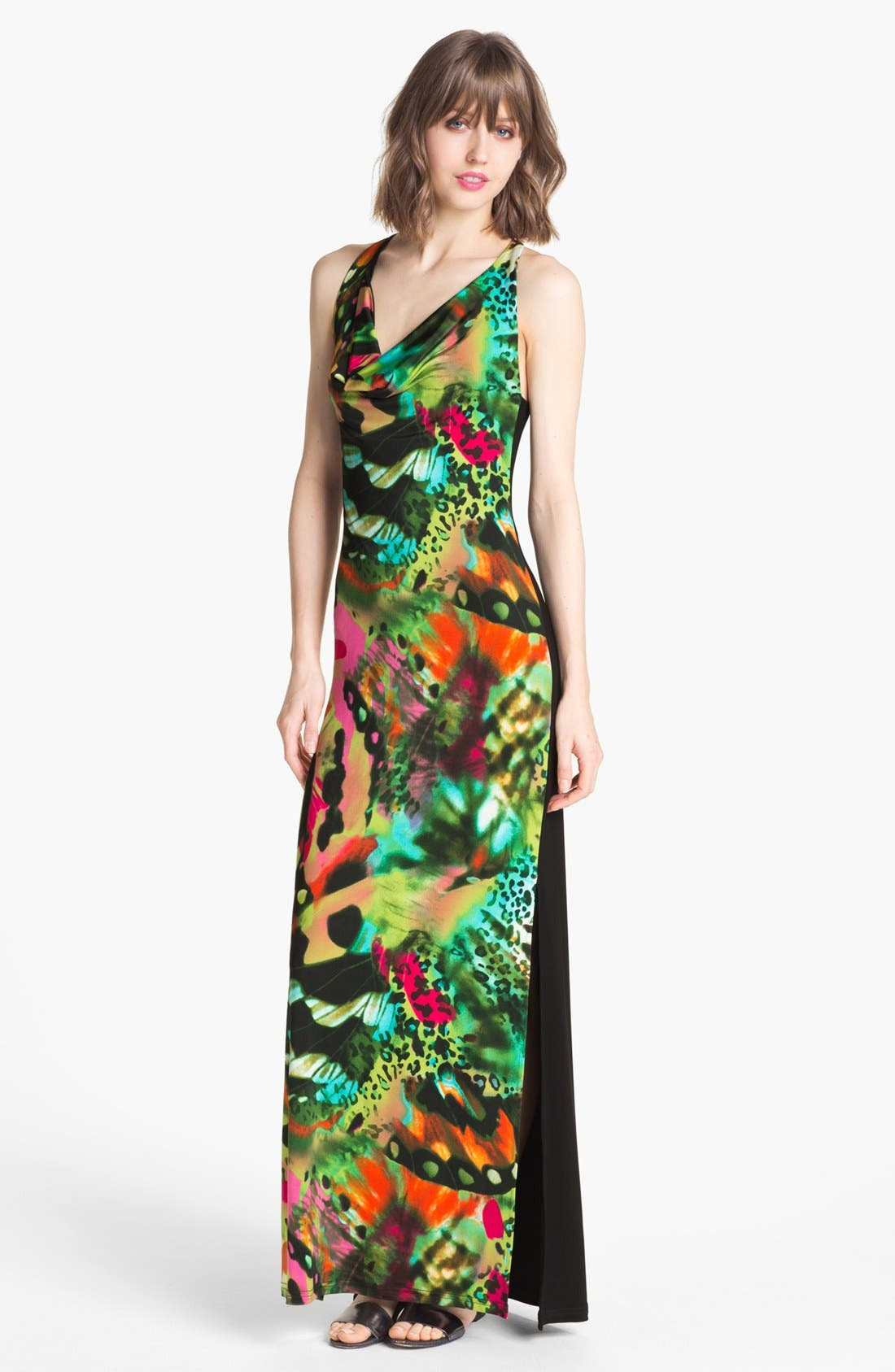 Main Image - Abi Ferrin 'Eve' Print Jersey Maxi Dress