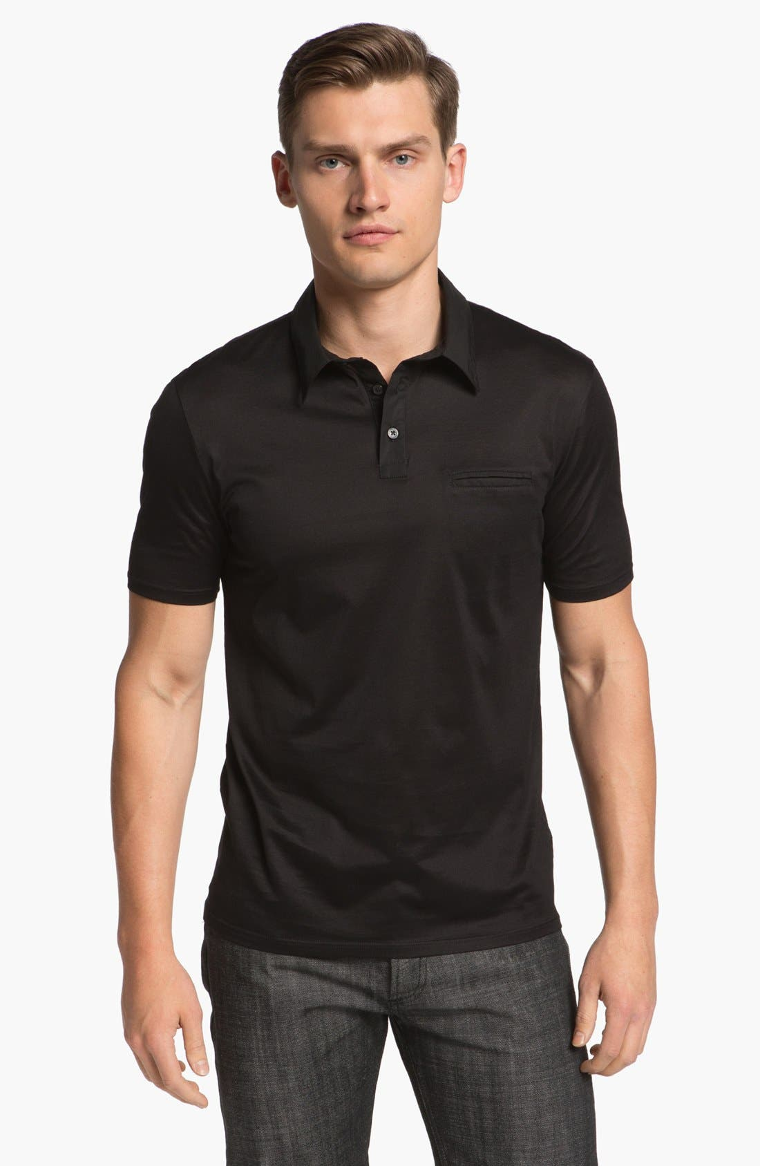 Main Image - Z Zegna Slim Fit Polo