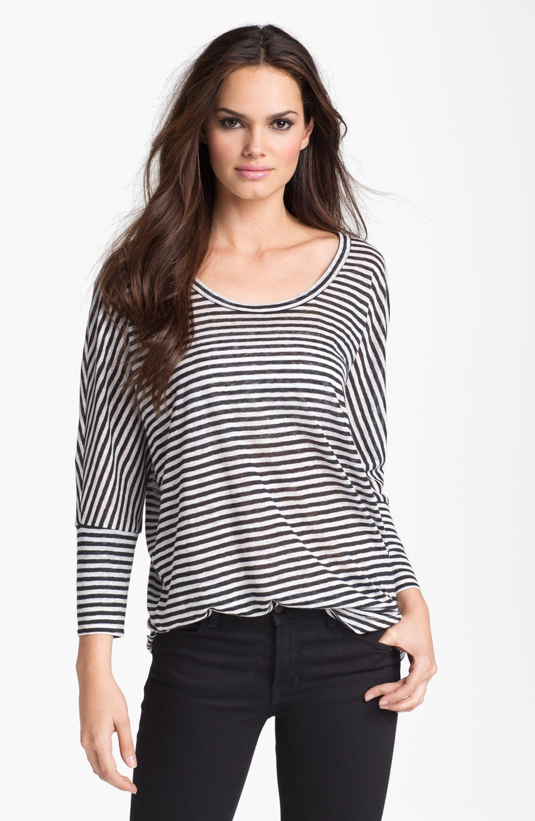 Alternate Image 1 Selected - Joie 'Ashlee' Sailor Stripe Tee