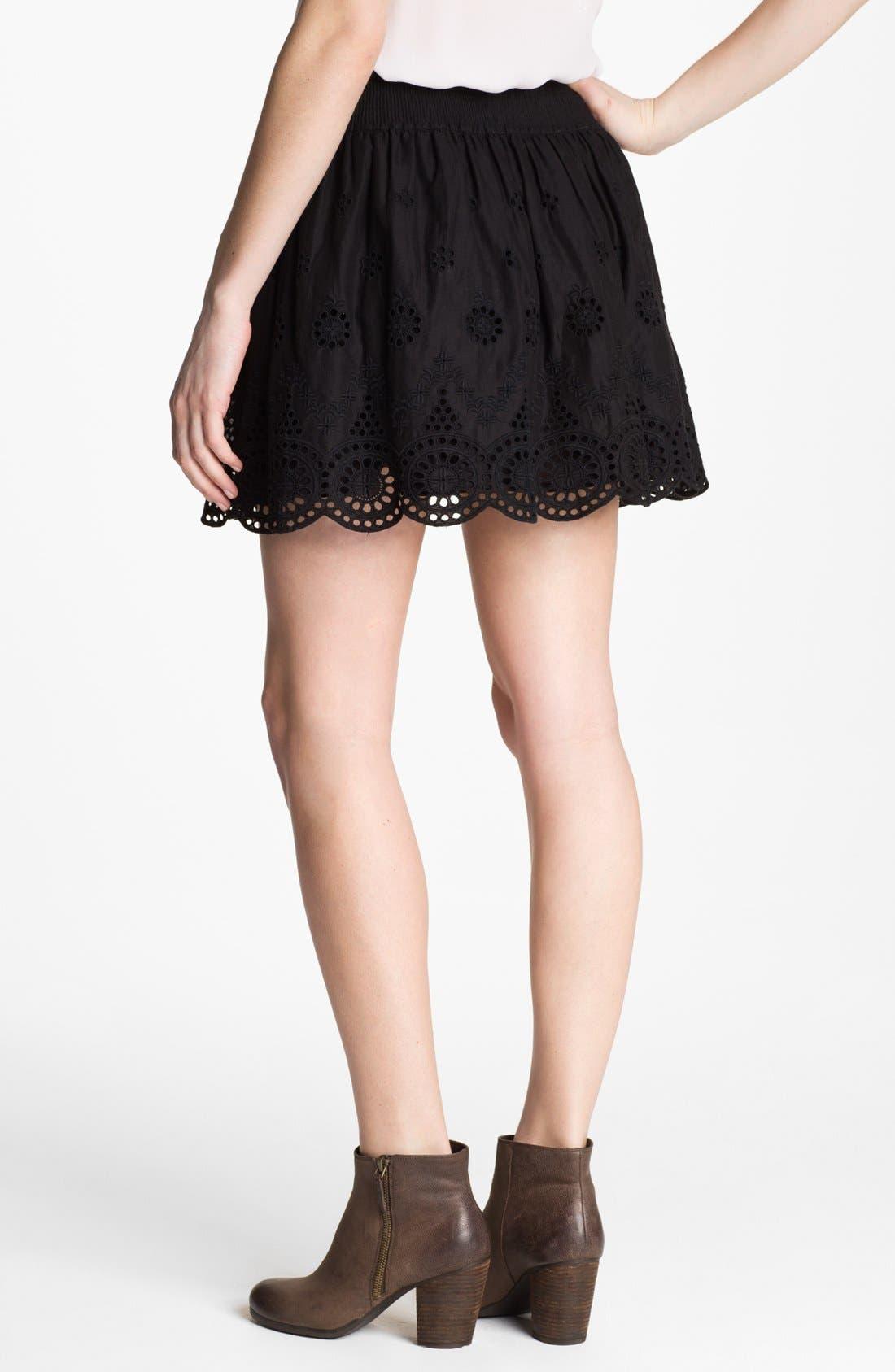 Alternate Image 2  - Hinge® Eyelet Embroidered Skirt