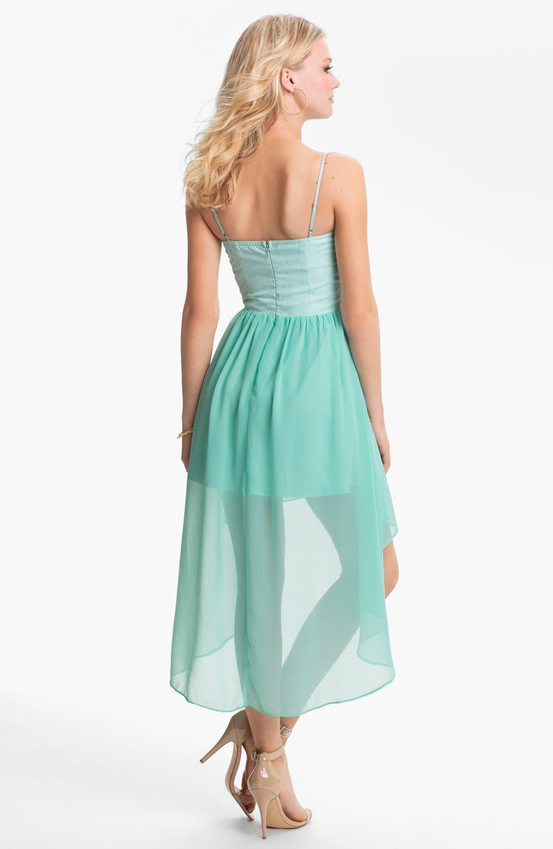 Alternate Image 2  - En Crème High/Low Bustier Dress (Juniors)