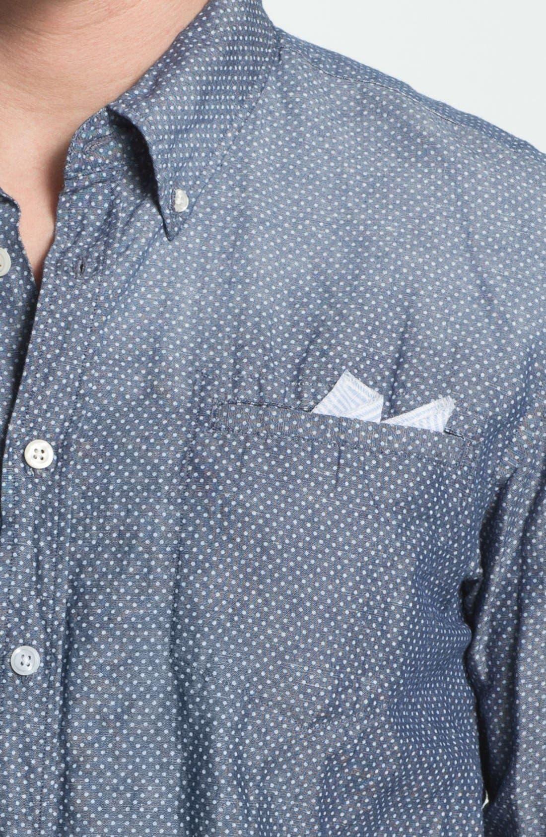Alternate Image 3  - Scotch & Soda Trim Fit Chambray Shirt