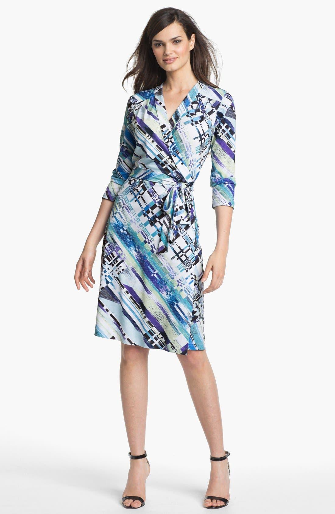 Alternate Image 1 Selected - Alex & Ava Print Jersey Wrap Dress