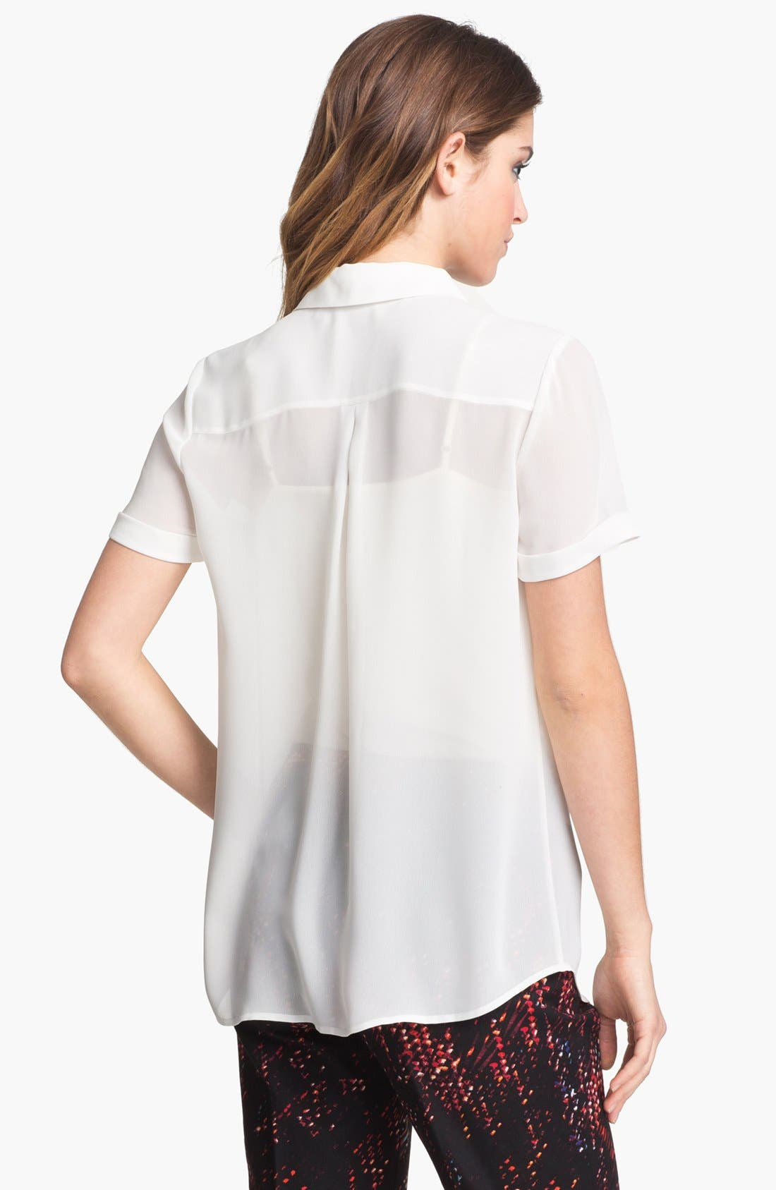 Alternate Image 2  - Halogen® Short Sleeve Collared Shirt