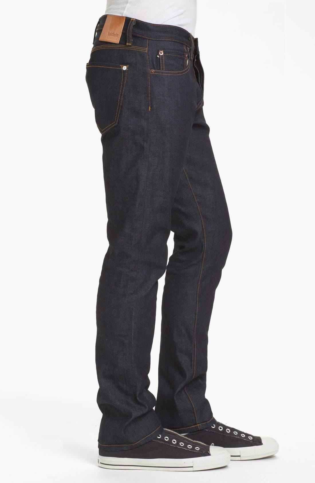 Alternate Image 3  - Baldwin 'Henley' Slim Fit Selvedge Jeans (Dry)