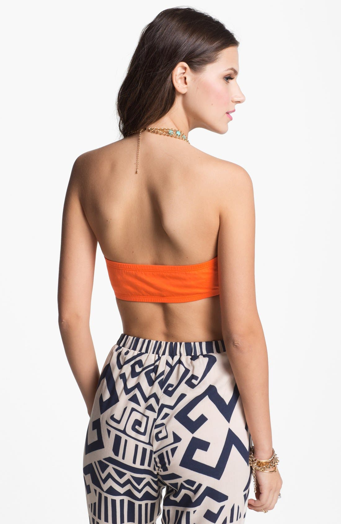Alternate Image 2  - Painted Threads Ruched Bandeau (Juniors) (Online Only)