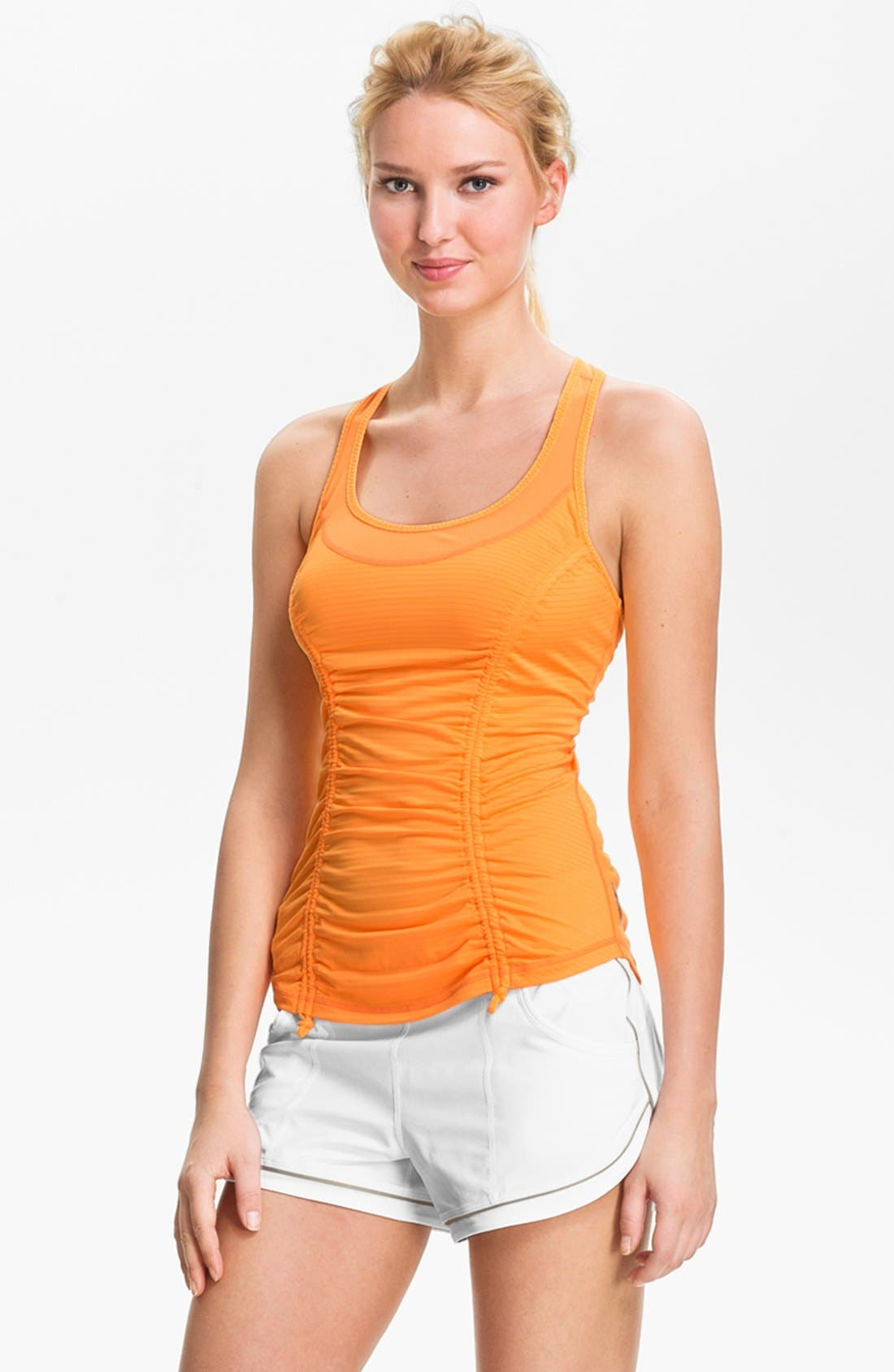 Main Image - Zella 'She Girl' Ruched Racerback Tank