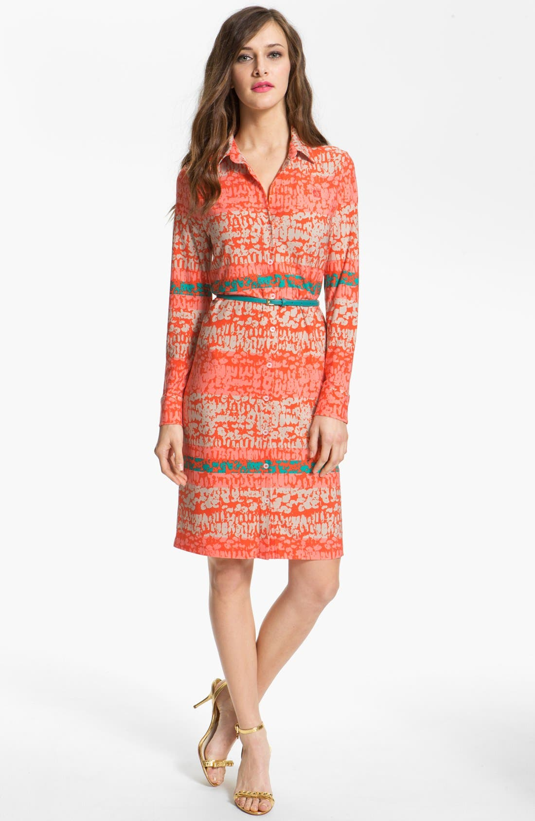Alternate Image 1 Selected - Anne Klein 'Leo - Stripe' Shirtdress