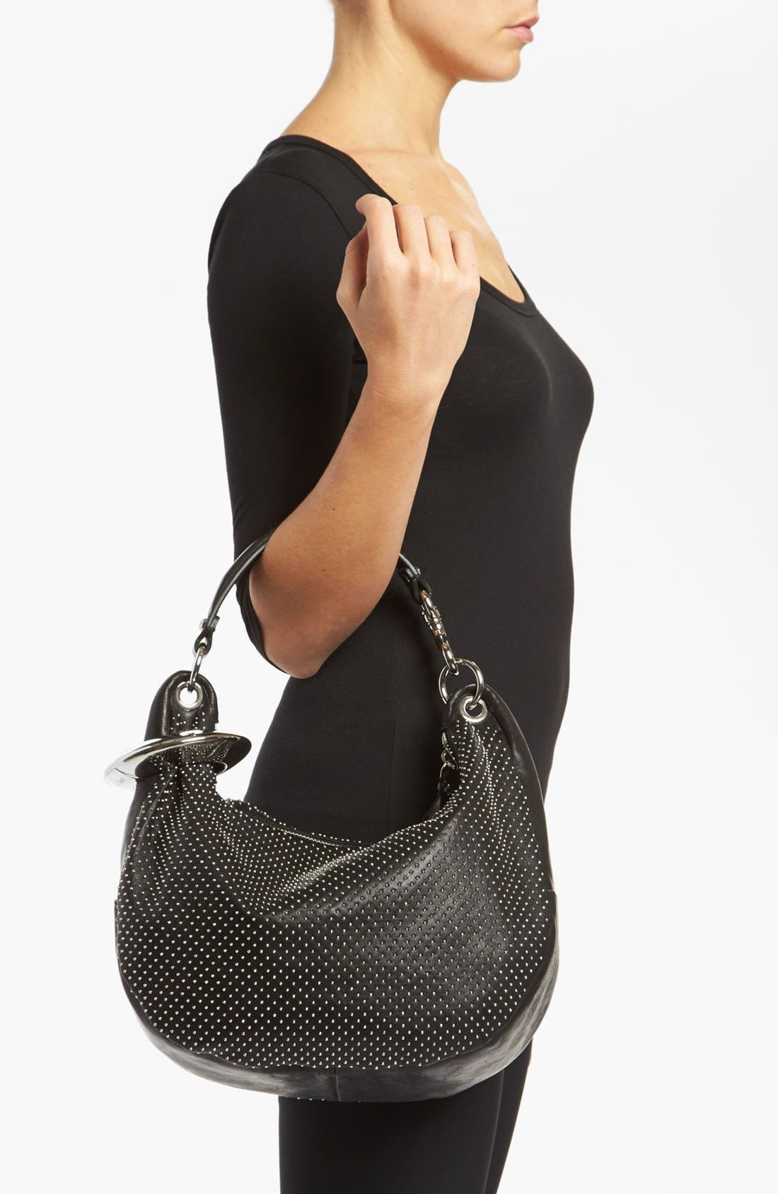 Alternate Image 2  - Jimmy Choo 'Solar - Small' Studded Leather Hobo