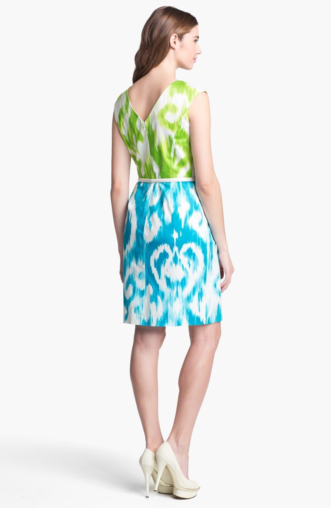 Alternate Image 2  - Ellen Tracy Print Sheath Dress