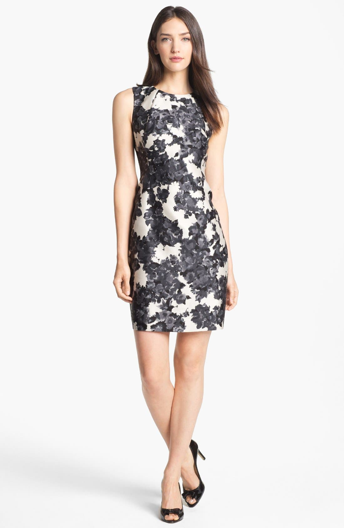 Main Image - kate spade new york 'leena' print cotton & silk sheath dress