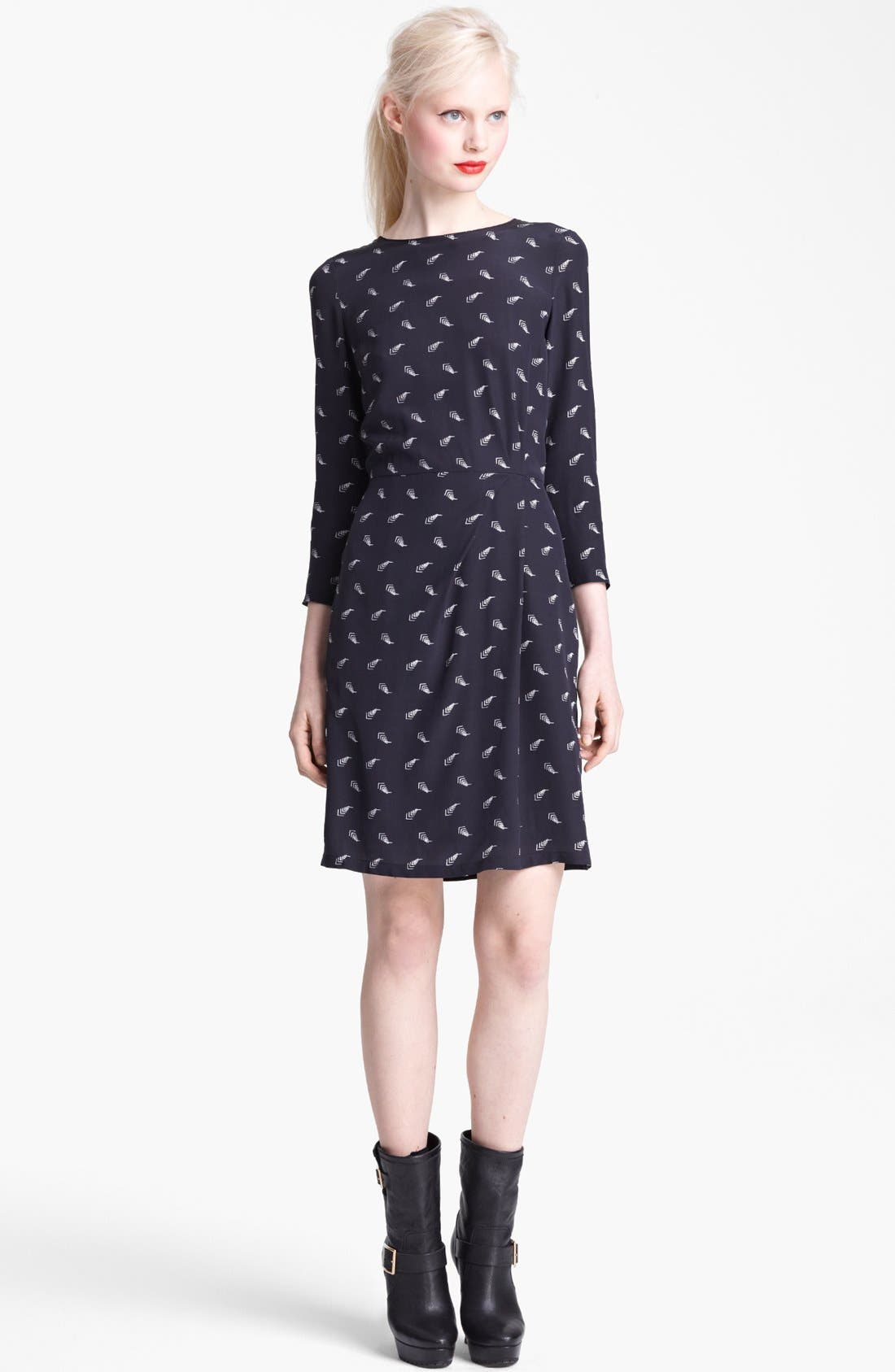 Alternate Image 1 Selected - Band of Outsiders Arrow Print Silk Dress