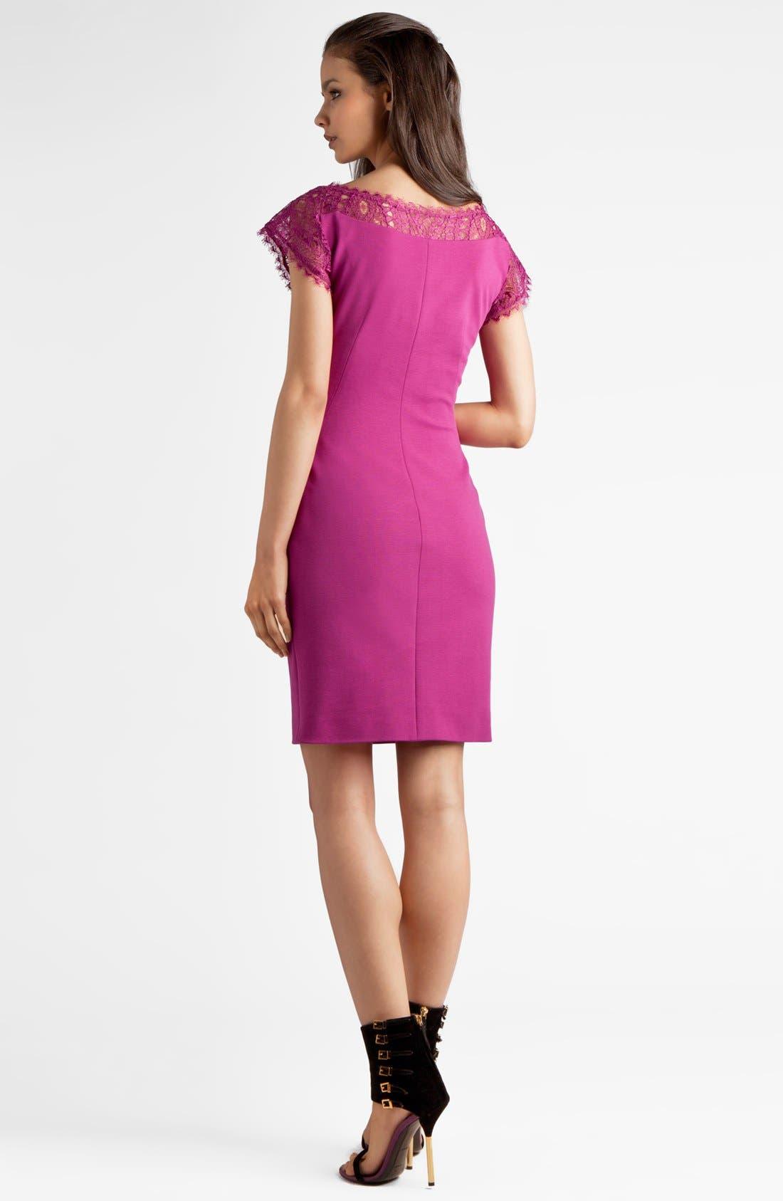Alternate Image 2  - Emilio Pucci Lace Detail Punto Milano Dress
