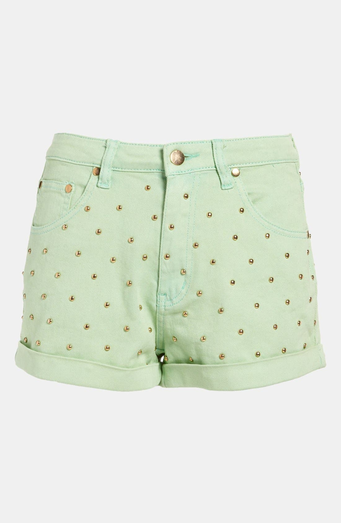 Main Image - MINKPINK 'Cheeky Stud' High Waist Shorts
