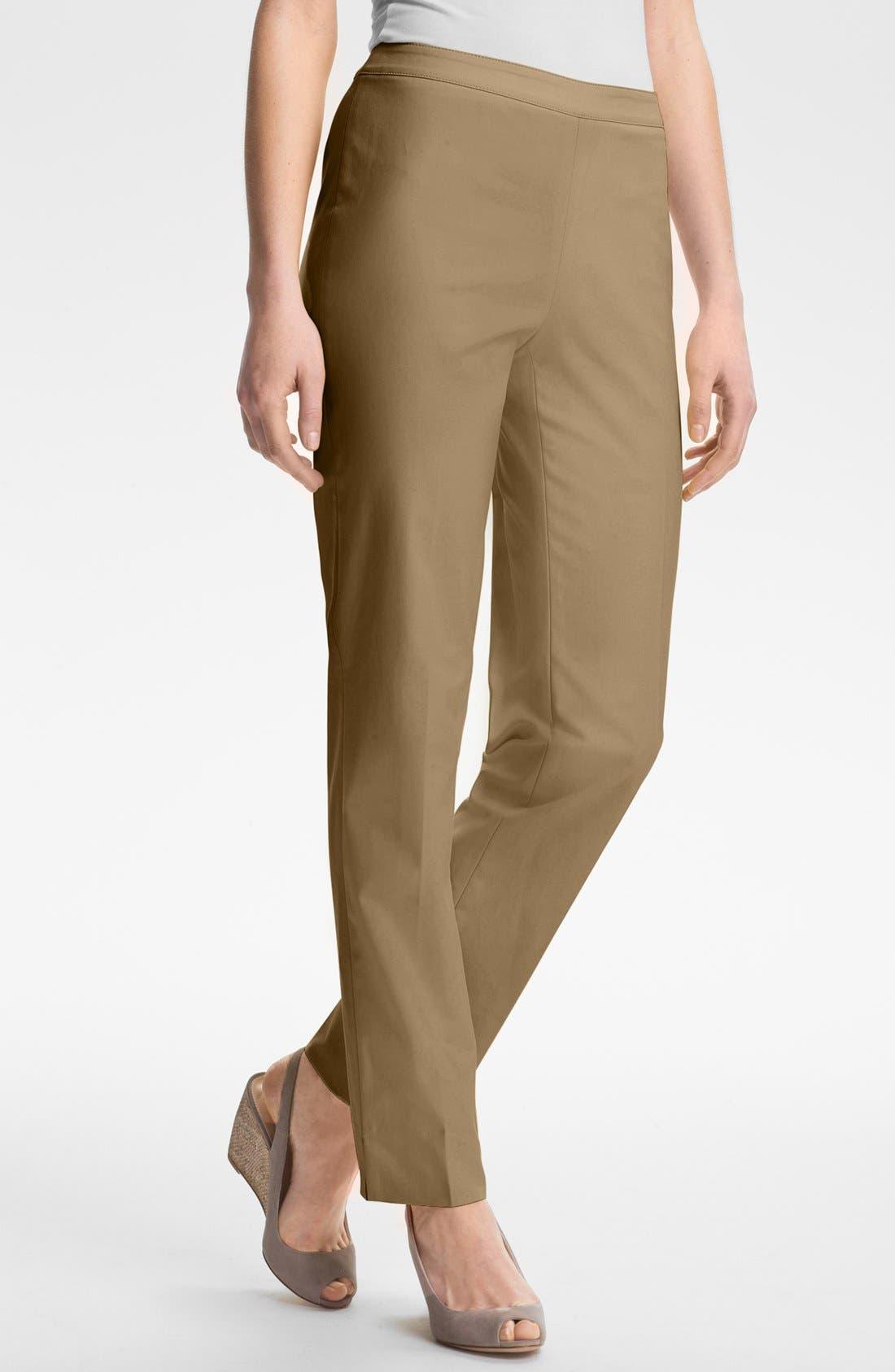 Alternate Image 1 Selected - Lafayette 148 New York 'Bleecker - Metropolitan' Stretch Pants