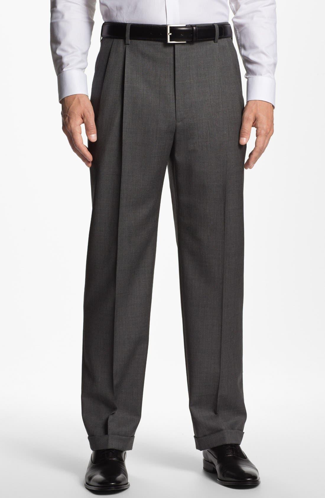 Main Image - Zanella 'Bennett' Pleated Trousers