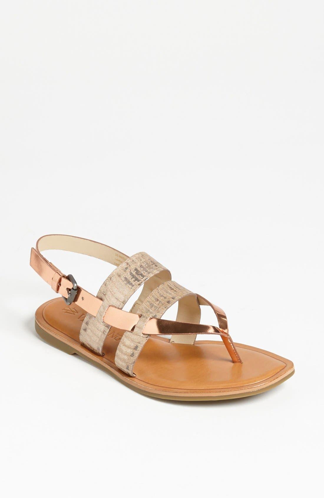 Alternate Image 1 Selected - Vera Wang Footwear 'Annie' Flat Sandal (Online Only)