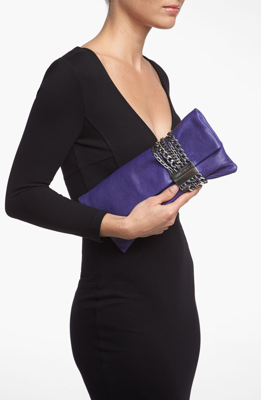 Alternate Image 2  - Jimmy Choo 'Chandra' Leather Clutch
