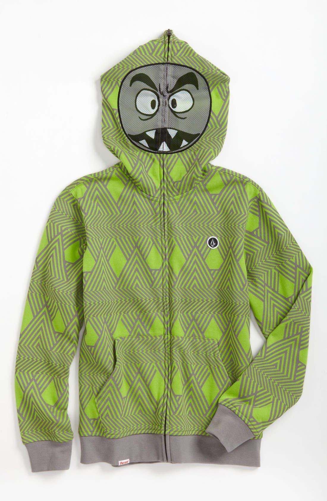 Alternate Image 1 Selected - Volcom 'Strange' Mask Hoodie (Big Boys)