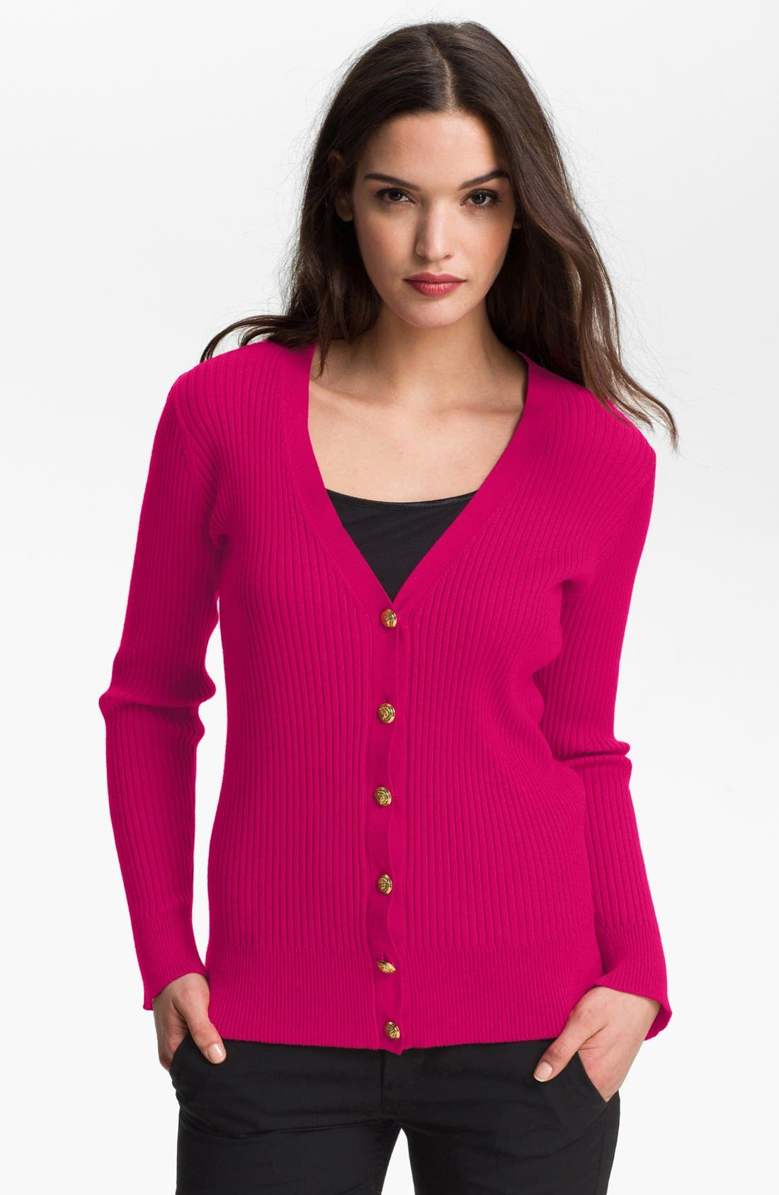 Alternate Image 1 Selected - Anne Klein V-Neck Cardigan