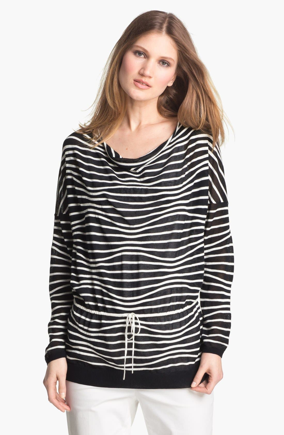 Alternate Image 1 Selected - Lafayette 148 New York Drawstring Waist Sweater