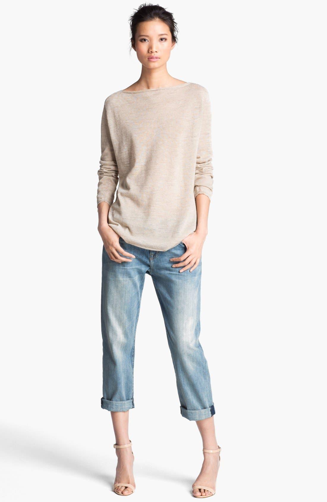 Main Image - Halston Heritage Linen Sweater