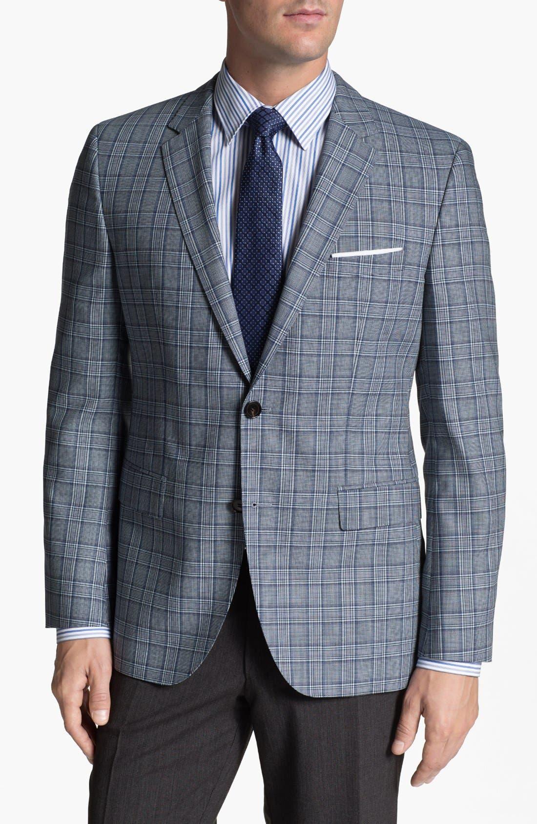Alternate Image 1 Selected - BOSS HUGO BOSS 'James' Trim Fit Plaid Sportcoat