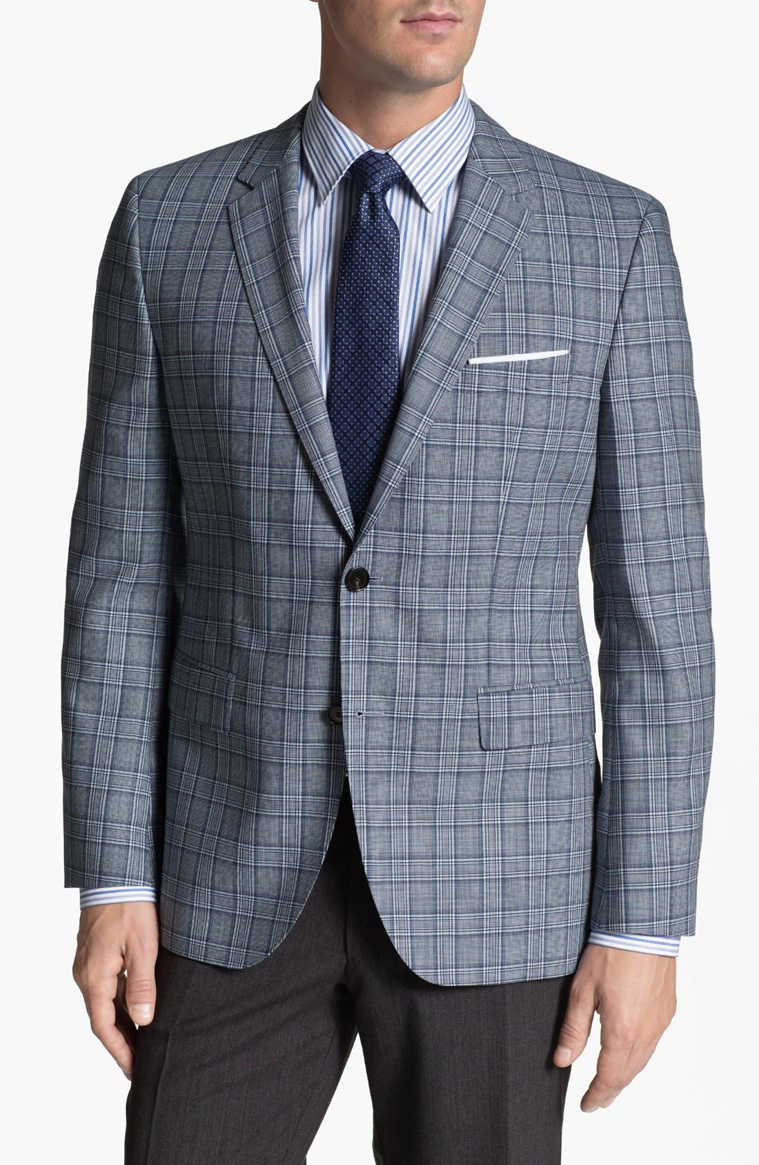 Main Image - BOSS HUGO BOSS 'James' Trim Fit Plaid Sportcoat