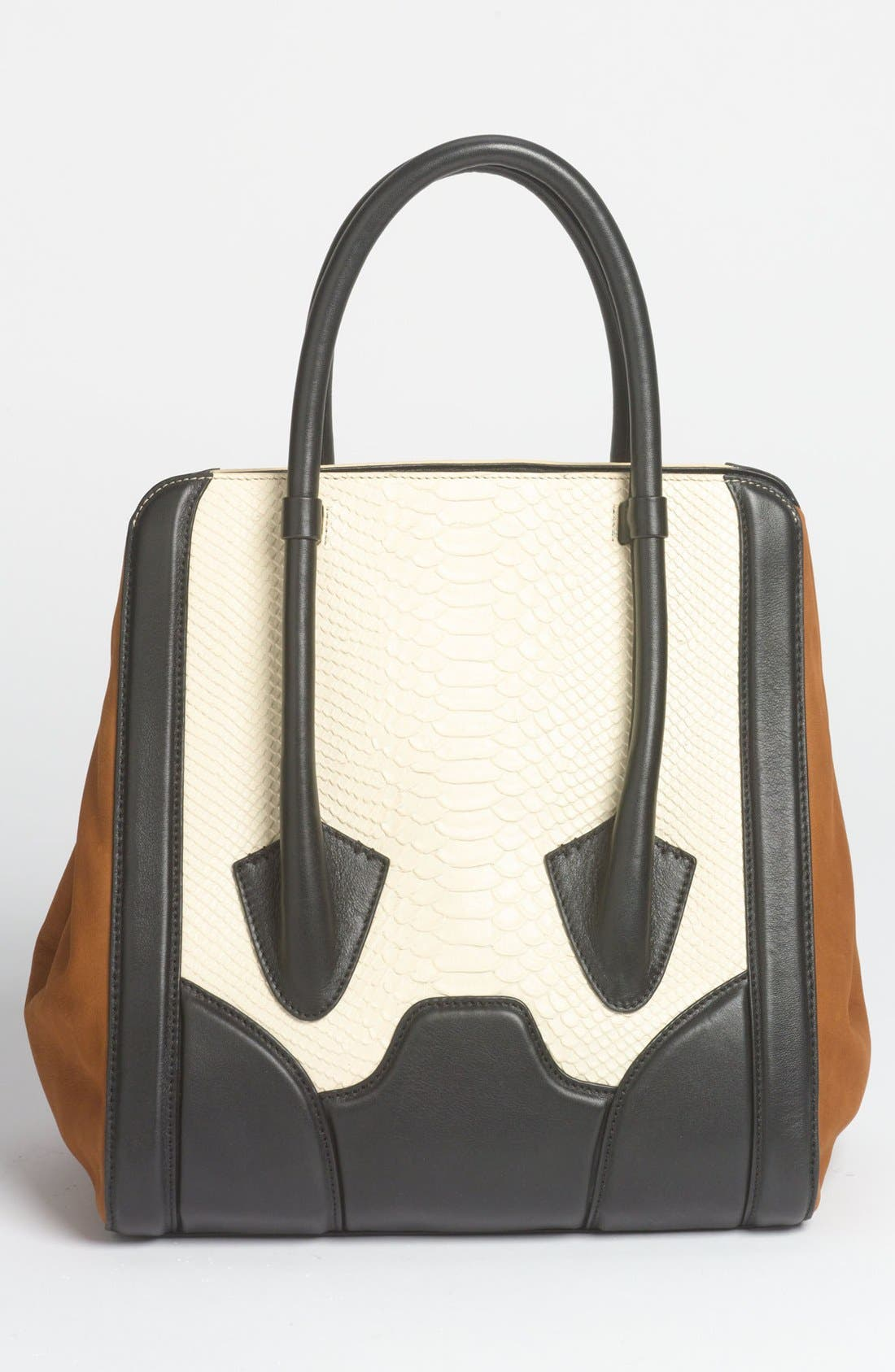 Alternate Image 4  - Pour la Victoire 'Butler - Large' Snake Embossed Leather & Suede Tote