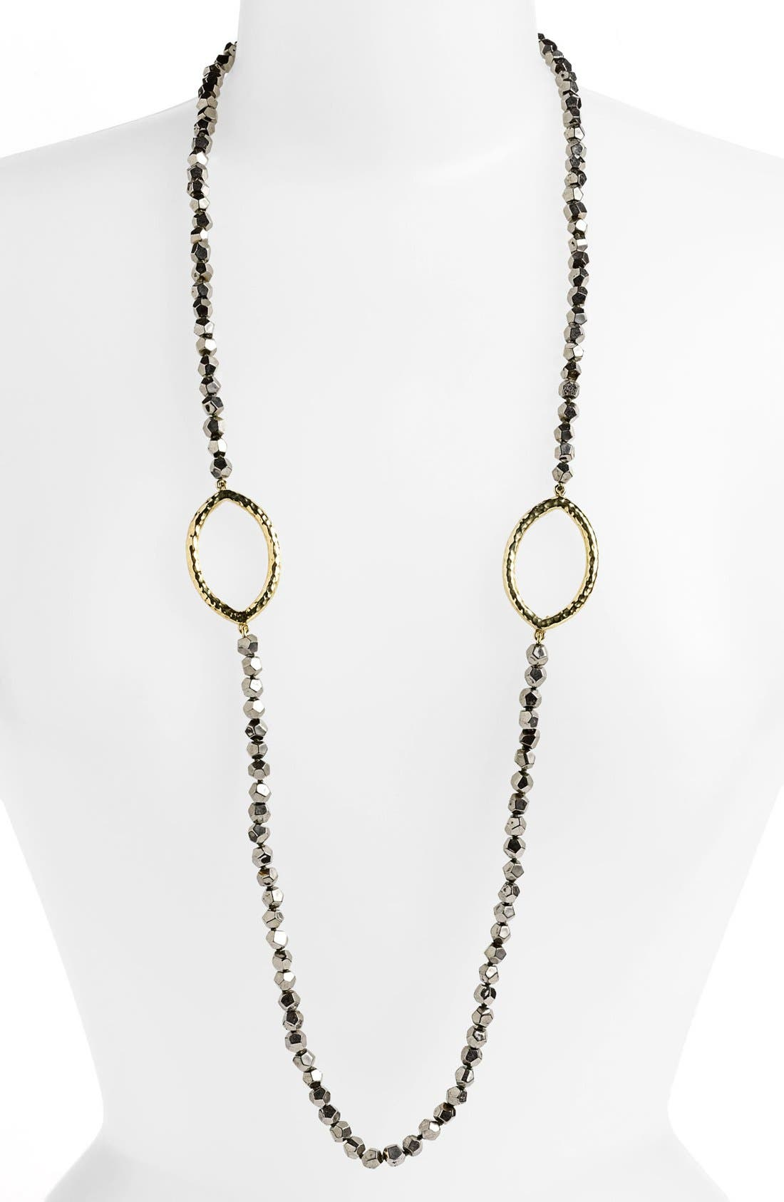 Alternate Image 1 Selected - Simon Sebbag Long Faceted Stone Necklace