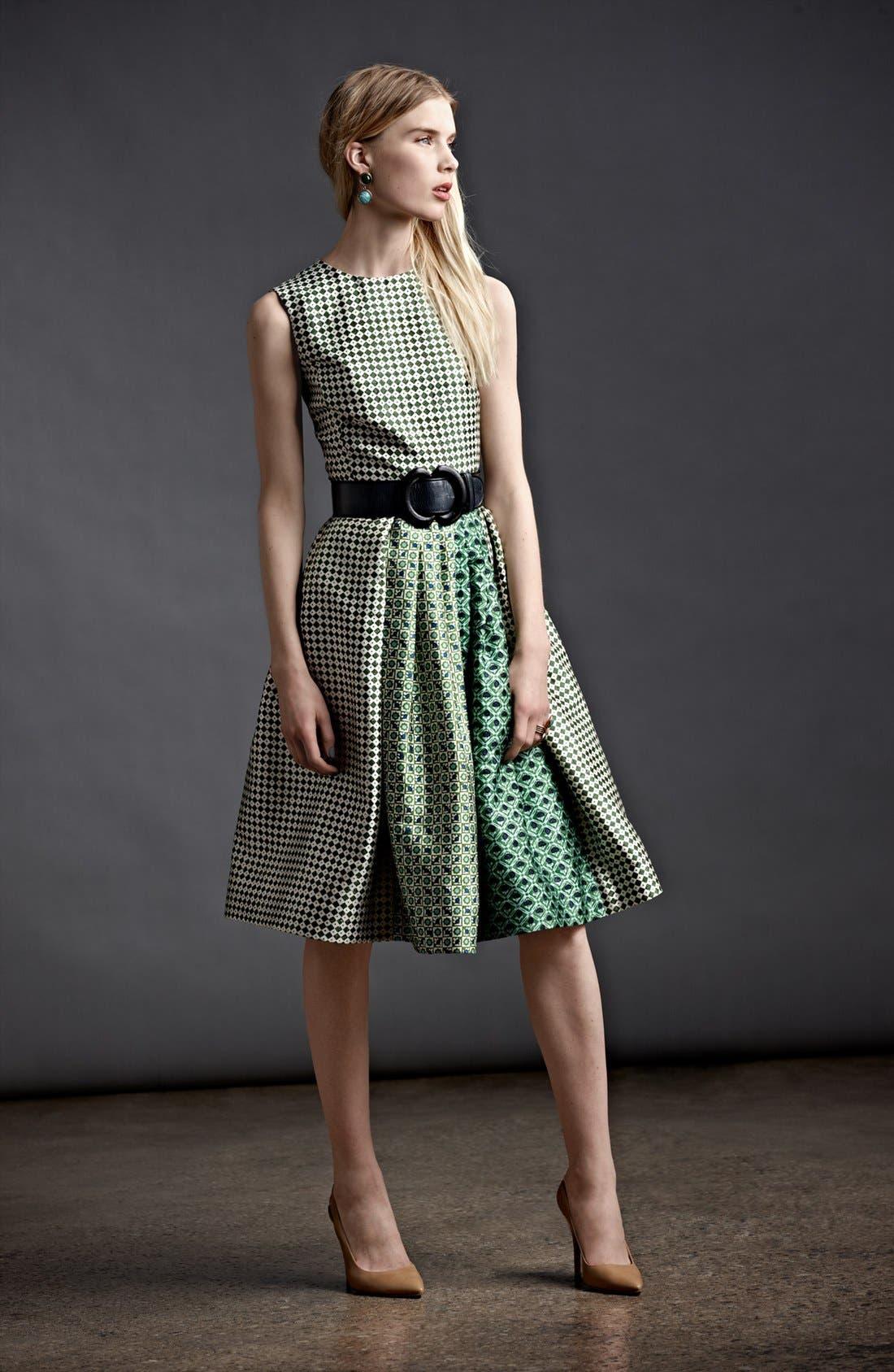 Alternate Image 4  - Oscar de la Renta Print Full Skirt Dress