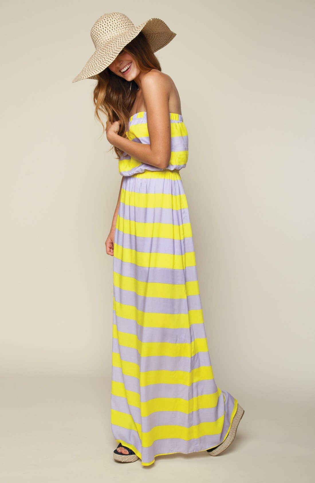 Alternate Image 1 Selected - Splendid Stripe Maxi Dress & Accessories