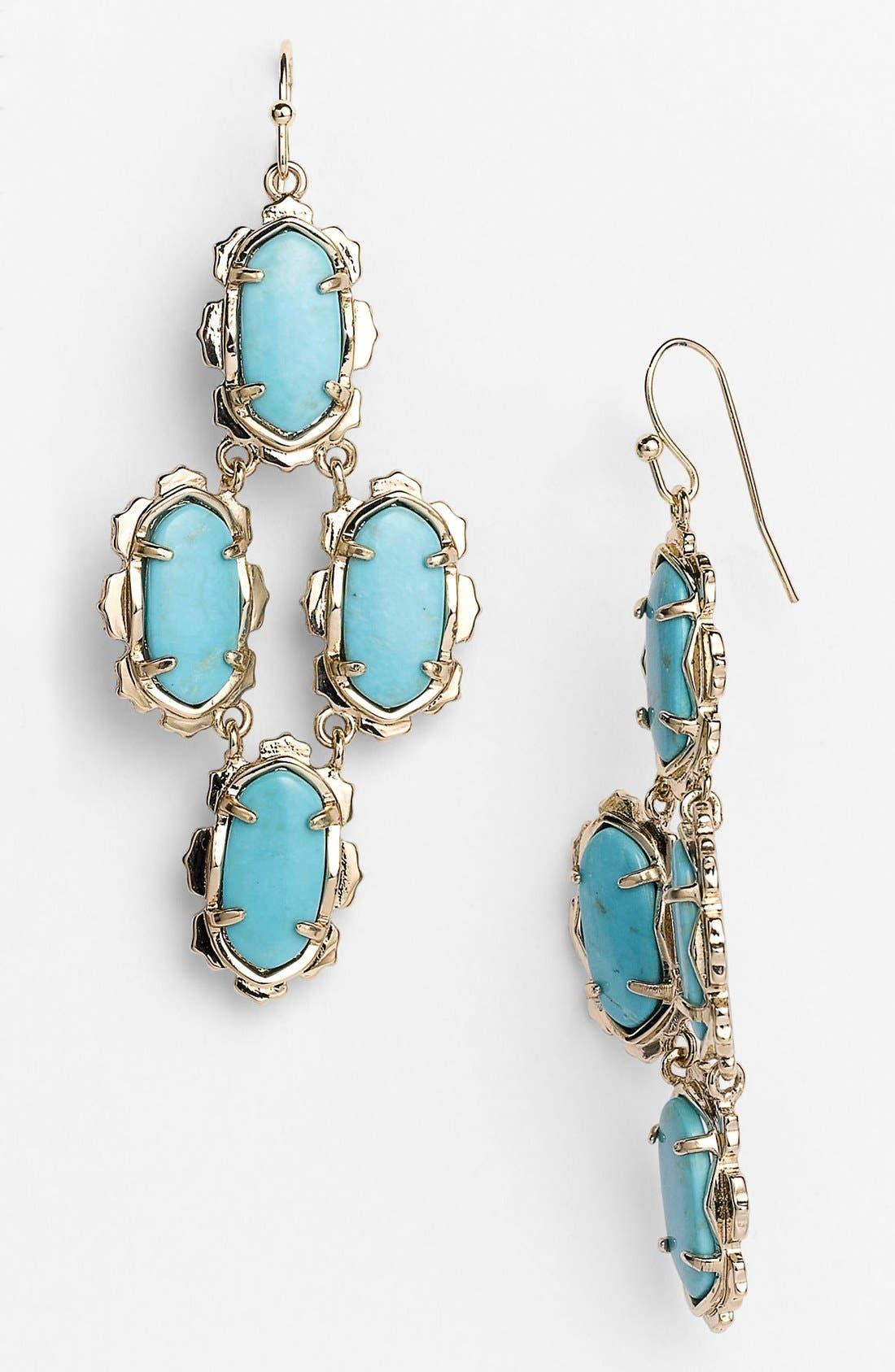 Alternate Image 1 Selected - Kendra Scott 'Carla' Oval Stone Earrings