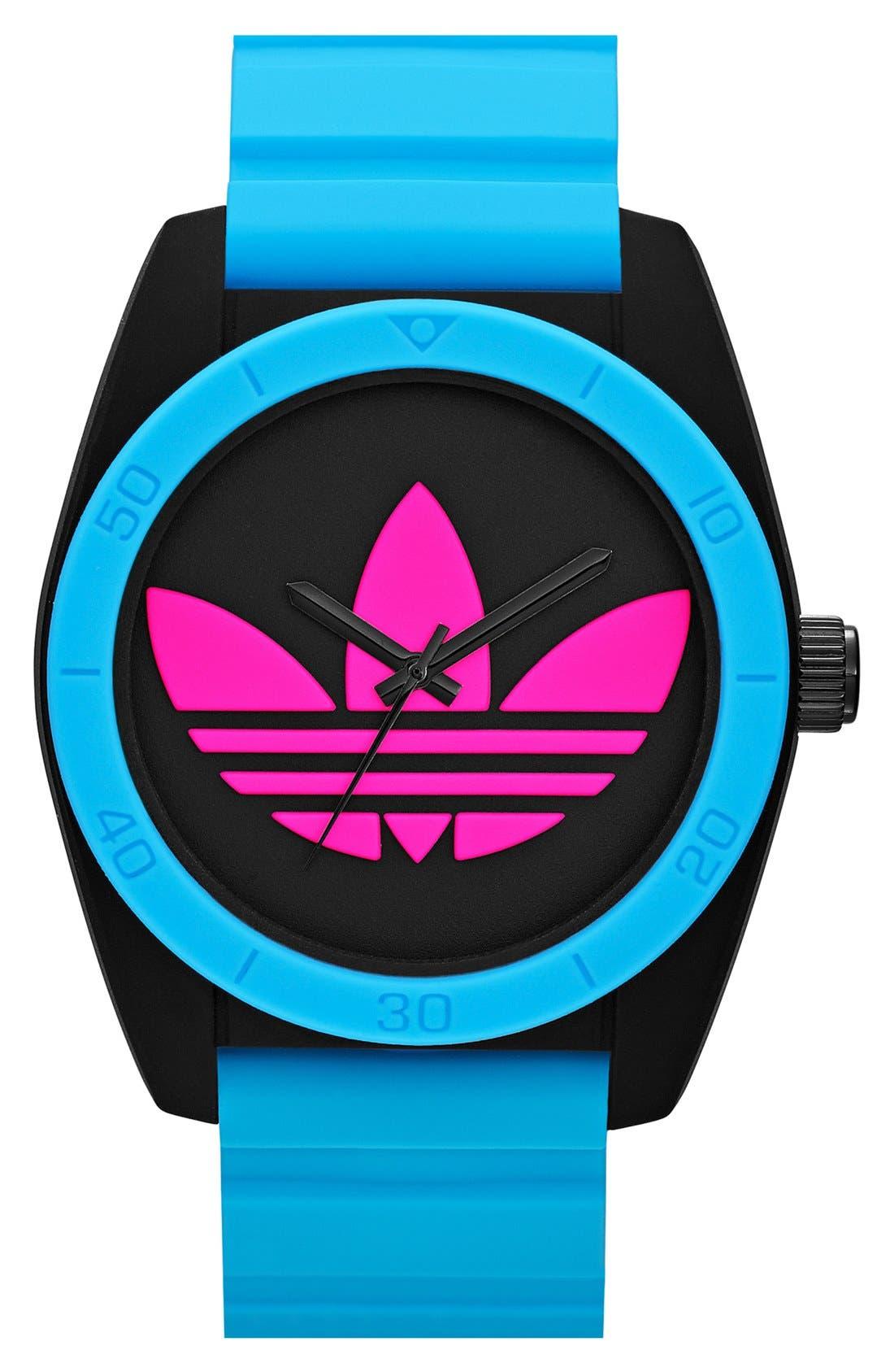 Main Image - adidas Originals 'Santiago' Logo Dial Watch, 42mm
