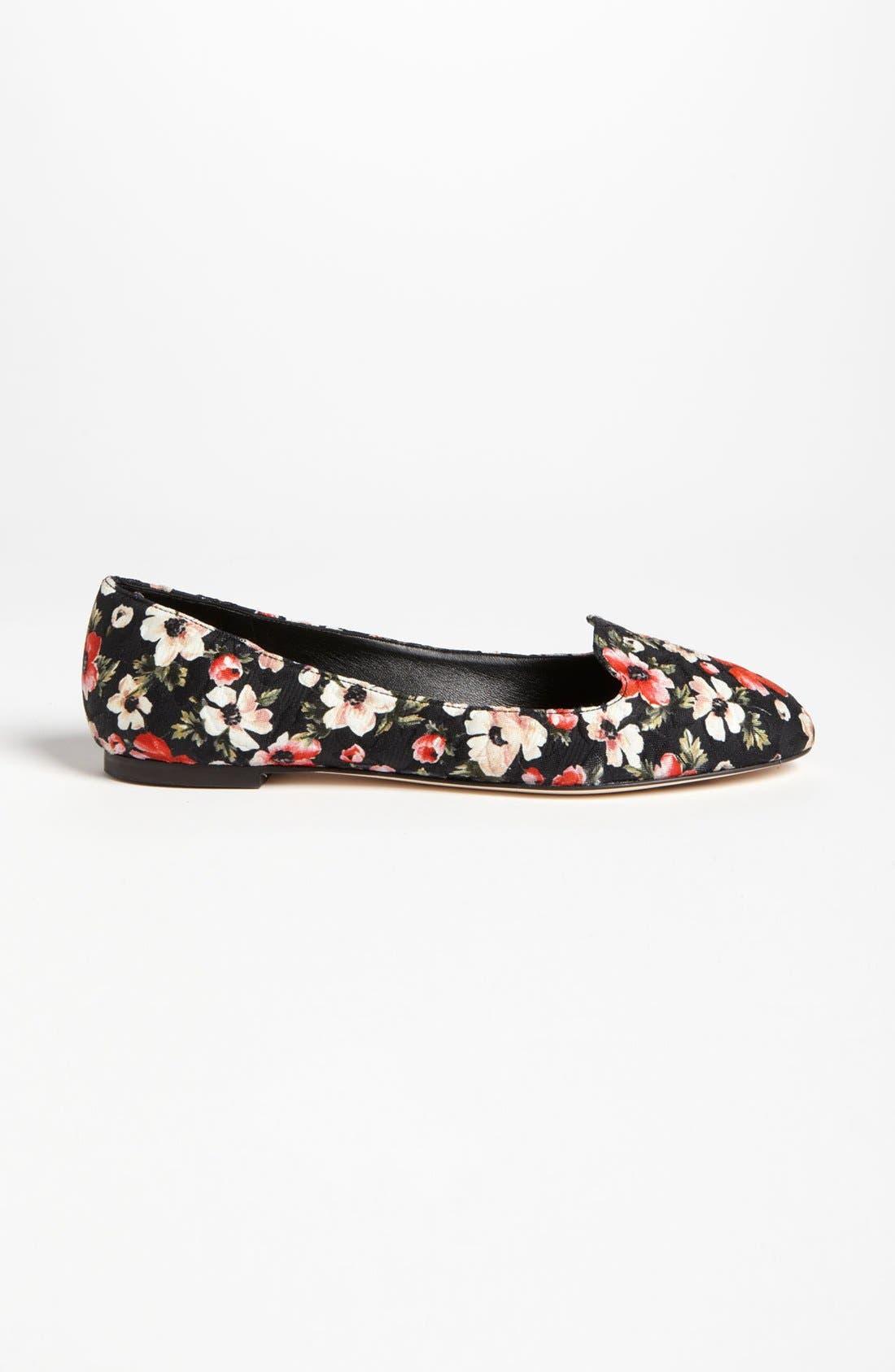 Alternate Image 4  - Dolce&Gabbana Floral Flat