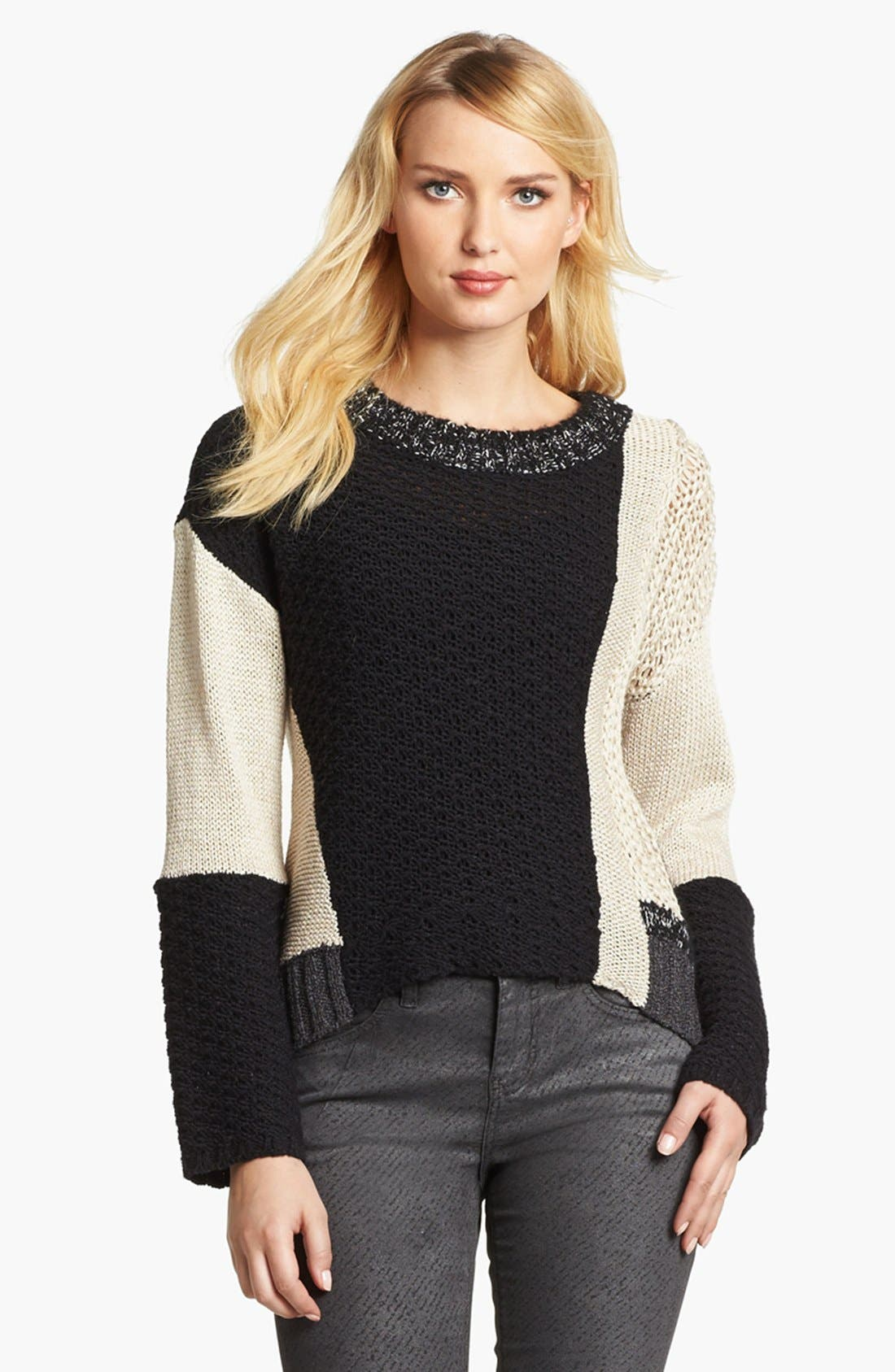 Alternate Image 1 Selected - Curio Mix Knit High/Low Sweater
