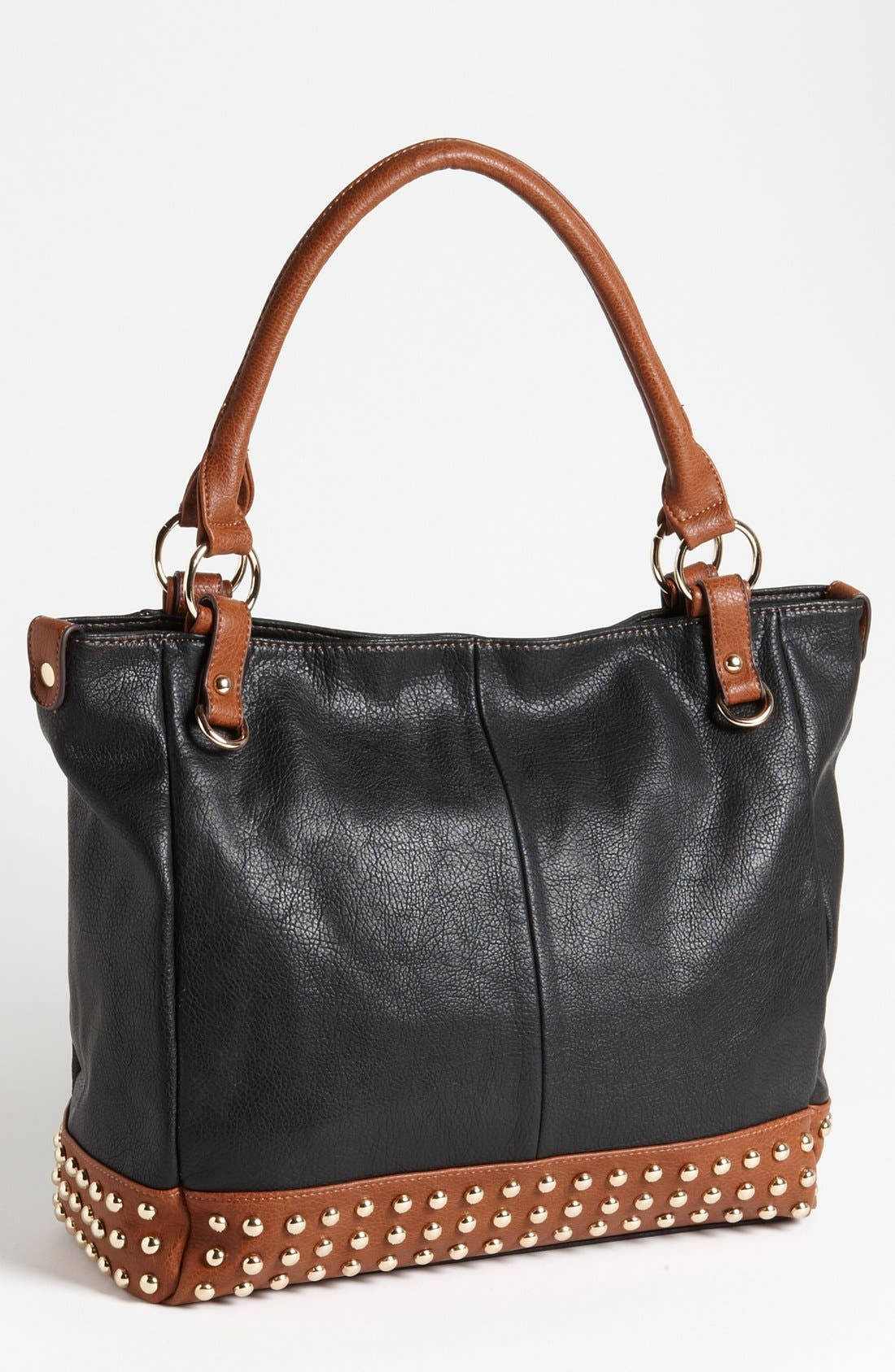 Main Image - Emperia Two Tone Studded Faux Leather Tote
