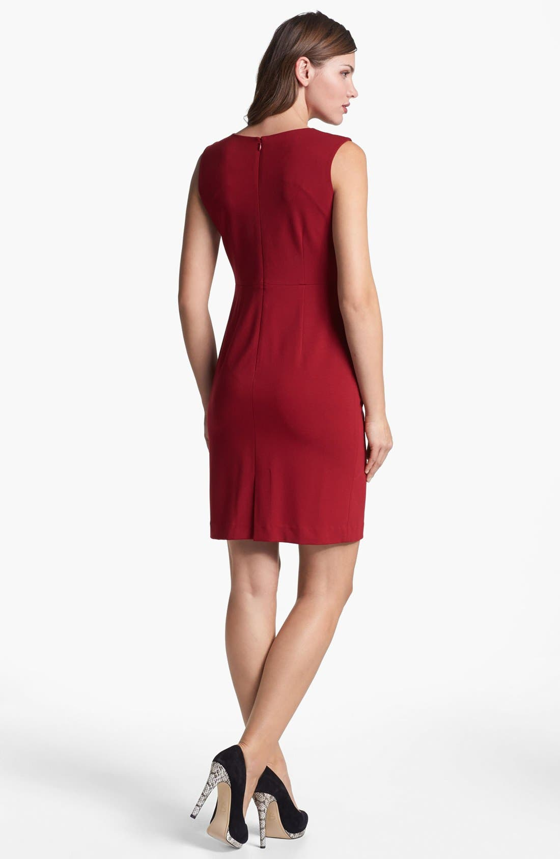 Alternate Image 2  - Lafayette 148 New York Sleeveless Punto Milano Dress