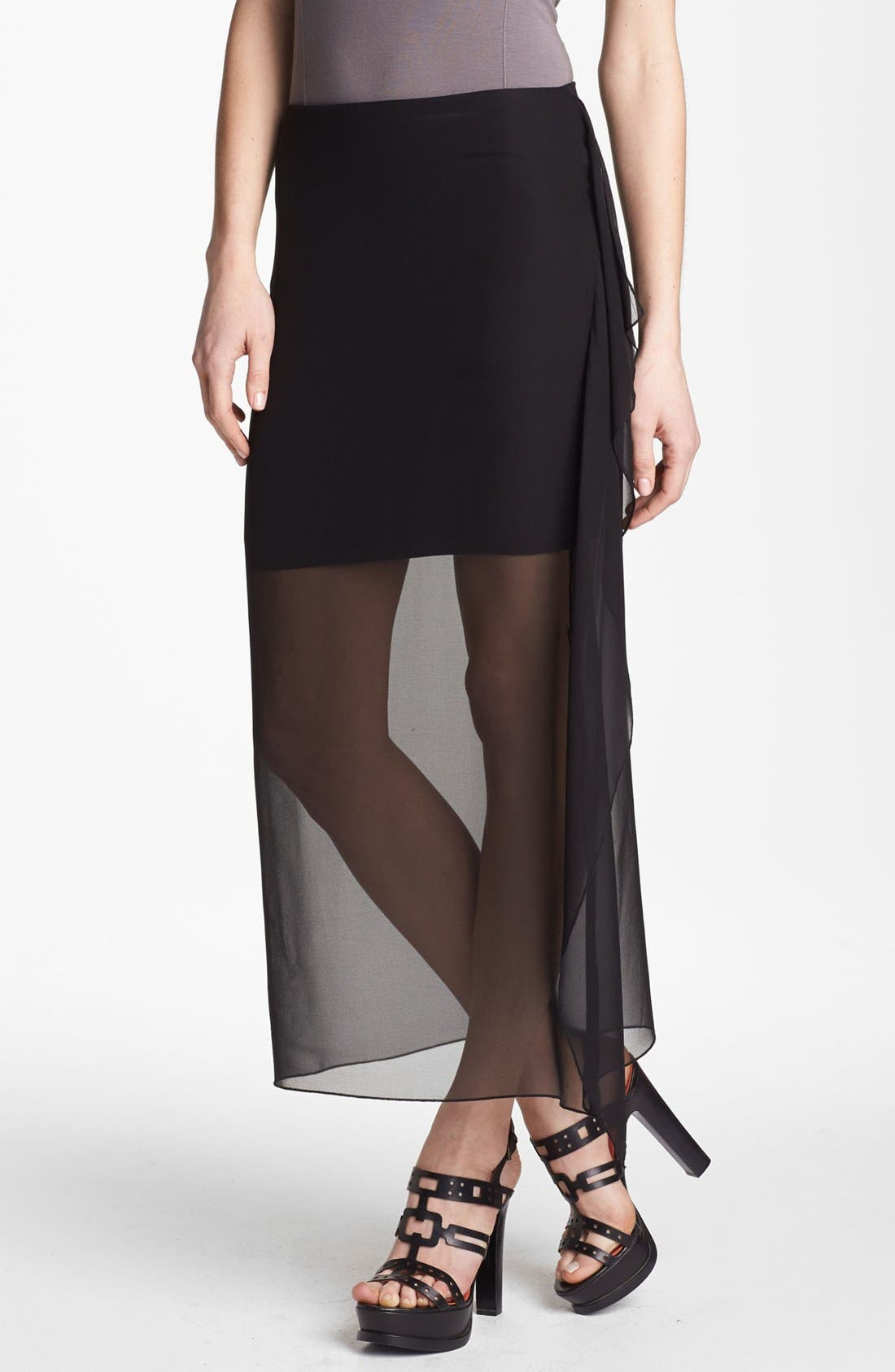 Alternate Image 1 Selected - Bailey 44 'Sea Grass' Sheer Overlay Skirt