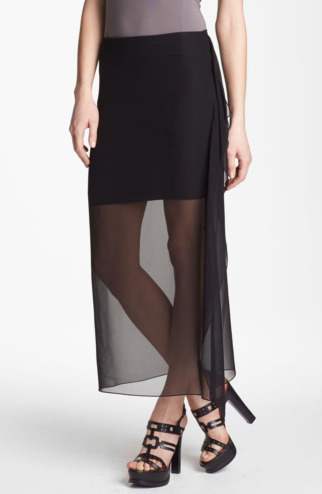 Main Image - Bailey 44 'Sea Grass' Sheer Overlay Skirt