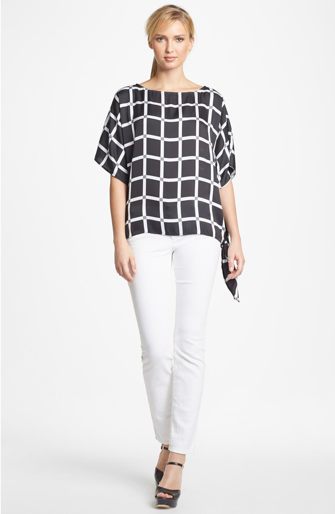 Alternate Image 1 Selected - MICHAEL Michael Kors Boatneck Blouse