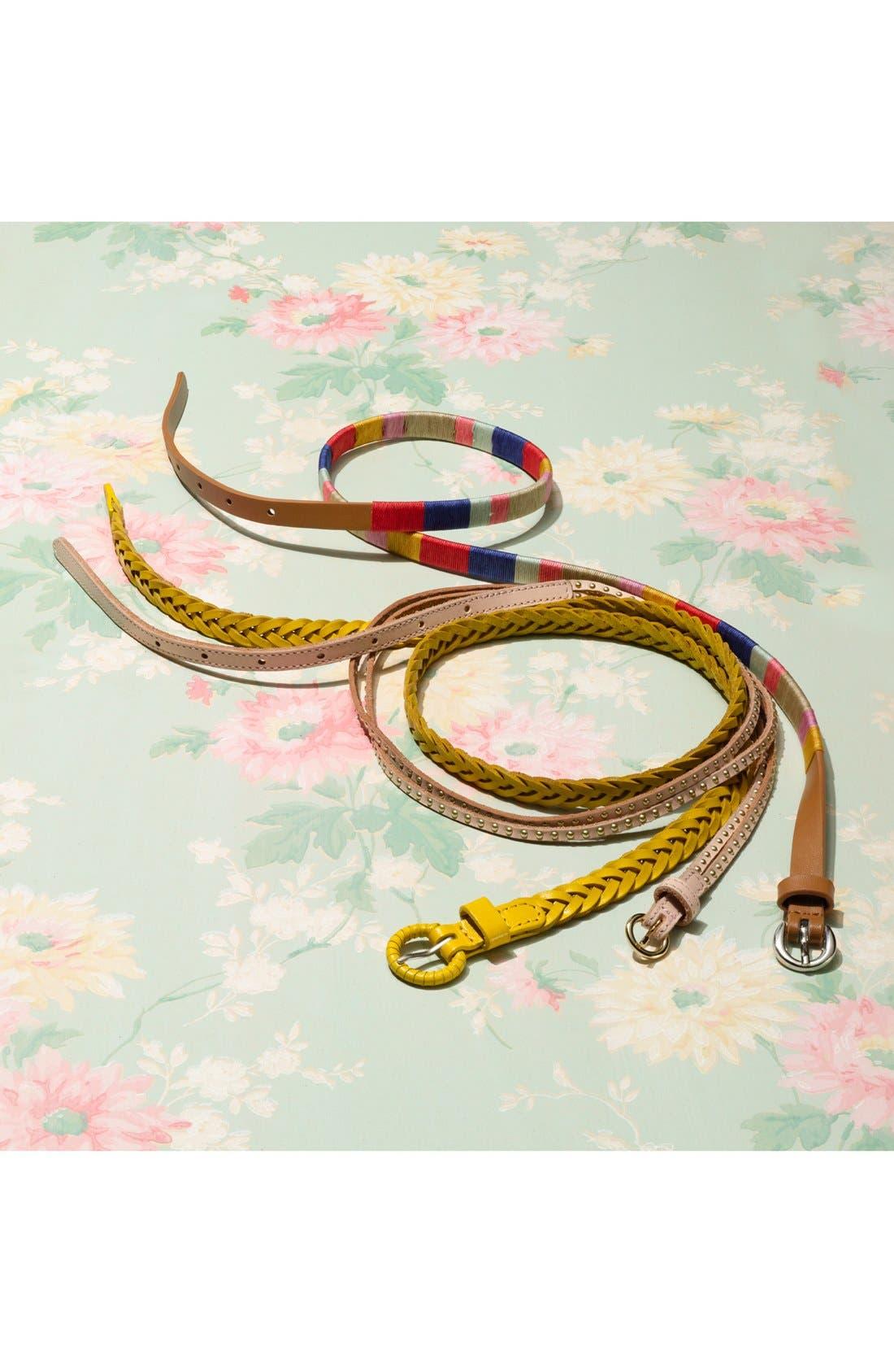 Alternate Image 2  - Tarnish Skinny Stud Double Strap Belt