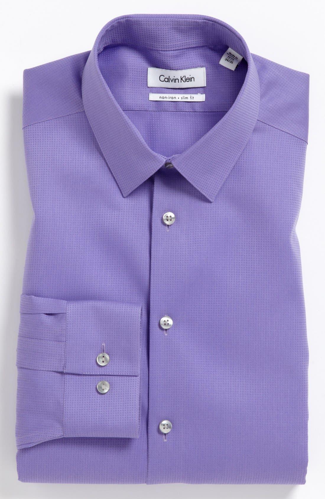 Main Image - Calvin Klein 'Miami Check' Slim Fit Non-Iron Dress Shirt