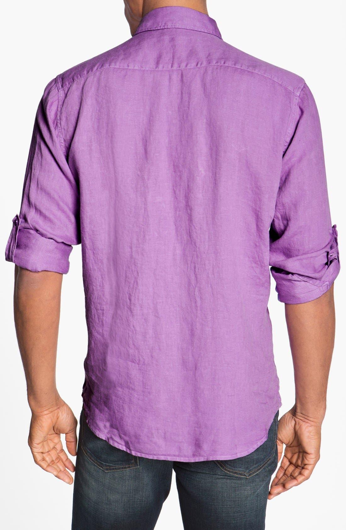Alternate Image 2  - Toscano Regular Fit Linen Sport Shirt