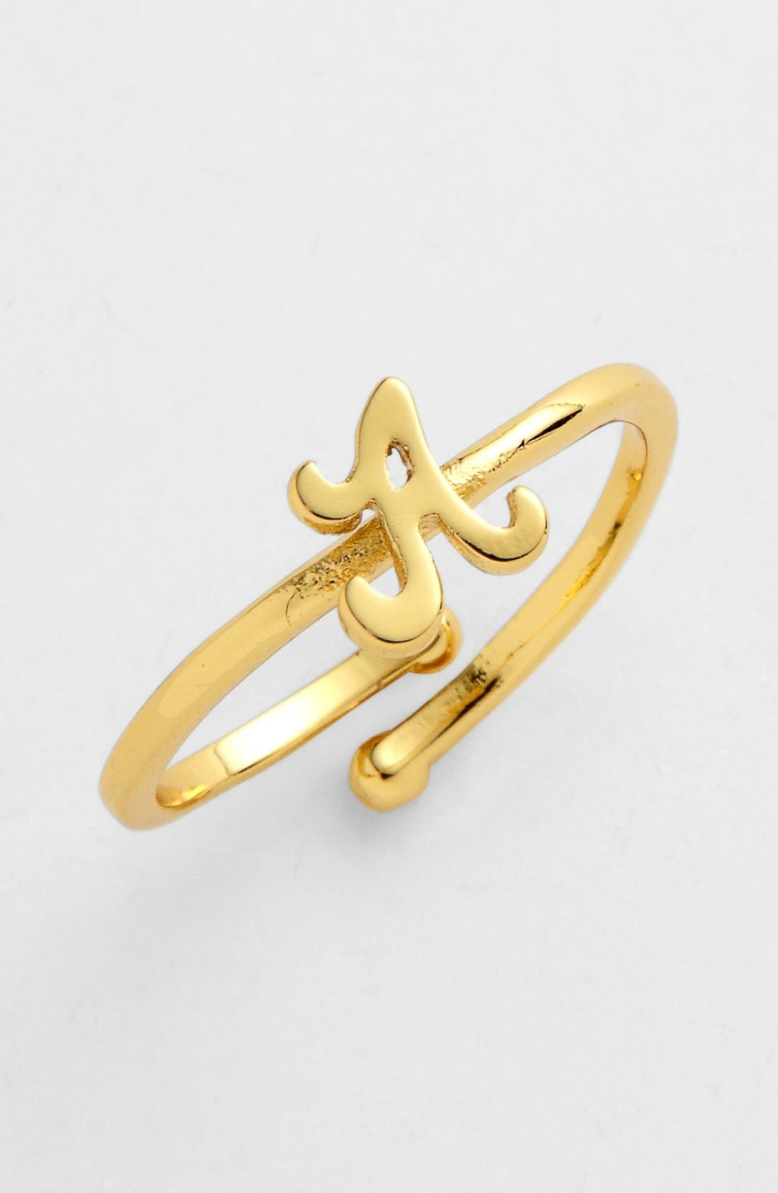 Main Image - Ariella Collection Script Initial Ring (Nordstrom Exclusive)