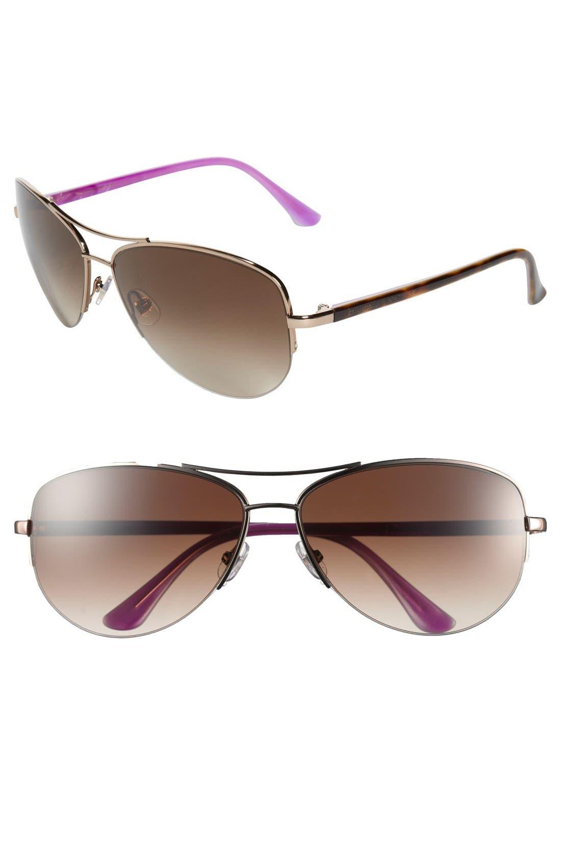 Main Image - kate spade new york 'elysia' 61mm rimless aviator sunglasses